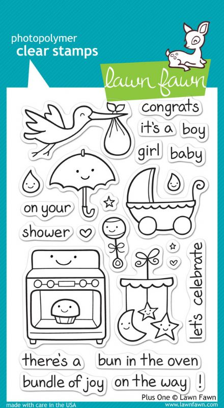 LF0337 ~ PLUS ONE ~ CLEAR STAMPS BY LAWN FAWN